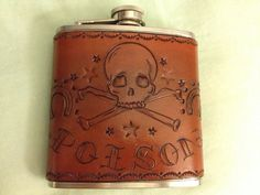 Carved Leather Poison Flask. $65.00, via Etsy.