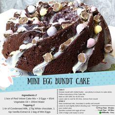 Cadbury Mini Egg Bundt Cake // Lucyy Bakes ~ Lucyy Writes   UK Beauty & Fashion Blog // easter baking chocolate red velvet white chocolate ganache easy home treats