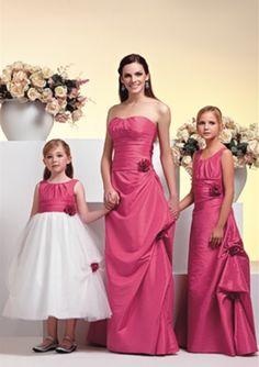 A-line Scoop Neckline Taffeta Pickups Floor Length Junior Bridesmaid Dresses