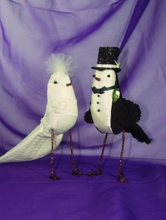 Bride and Groom Birds Wedding Cake Topper by purplemadison on Etsy. $148.00 USD, via Etsy.