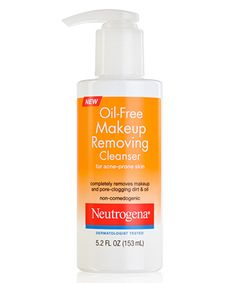 Neutrogena Oil-Free Makeup Removing Cleanser for Acne-Prone Skin ~ a well-formulated cleanser that is suitable for normal to oily skin.