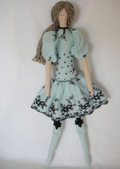 Tilda doll handmade Bonnie Blue by Charmerhandshouse on Etsy