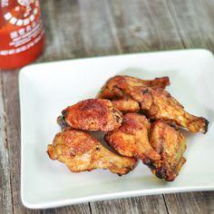 Sriracha Glazed Chicken Wings
