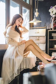 Park Soo Yeon, Erotic, Tulle, Beautiful Women, Lady, People, Beauty, Dresses, Passion