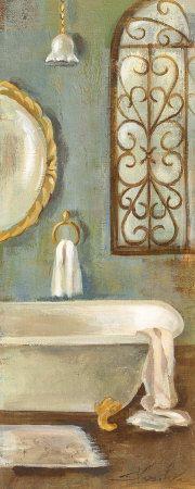 Vintage Bath II  Art Print  by Silvia Vassileva