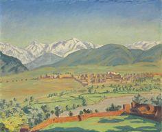 "Sir Winston Churchill, O.M., R.A. (1874-1965) ""A View of Marrakech"""
