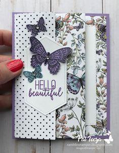 Fancy Fold Cards, Folded Cards, Karten Diy, Paper Cards, 3d Cards, Cards Diy, Stamping Up Cards, Card Making Techniques, Butterfly Cards