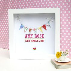 Personalised Baby Girl Bunting Picture