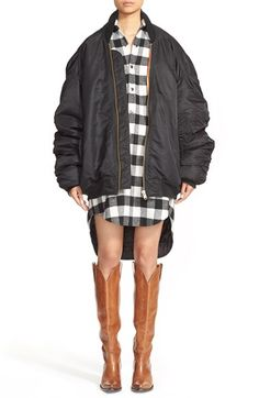 Vetements Oversize Nylon Bomber Jacket available at #Nordstrom