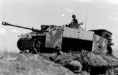 "A Sturmgeschütz III Ausf. F/8 of 2.SS-Division 'Das Reich' in the ""fire brigade"" role at Kursk, 1943"