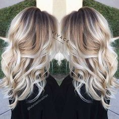 15 Beloved Blonde Long Hairstyles: #2. Blonde Ombre Long Hair Style