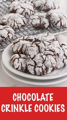 The BEST Chocolate Crinkle Cookies - - Chocolate Crinkle Cookies - Fudgy on the inside with a crisp outside edge! So rich and decadent and adored by any and all chocolate lovers. Doesn't get better than this crinkle cookie recipe! Chex Mix Recipes, Easy Cookie Recipes, Baking Recipes, Baking Tips, Köstliche Desserts, Delicious Desserts, Dessert Recipes, Plated Desserts, Recipes Dinner