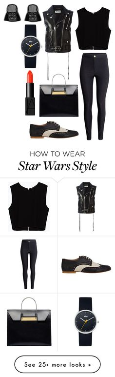 """""""Untitled #1005"""" by fcharese on Polyvore featuring Barneys New York, Zara, Yves Saint Laurent, H&M, Balenciaga, NARS Cosmetics and Braun"""