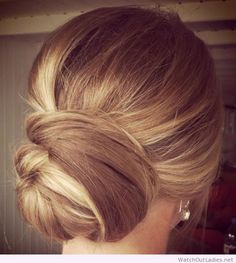 Classic updo, perfect for weddings