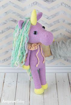 Shy unicorn crochet pattern van Amigurumi Today