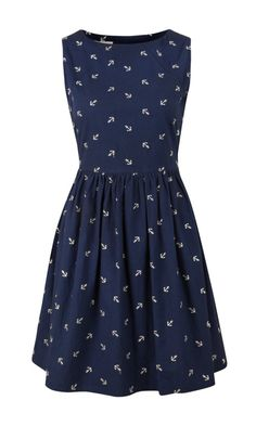 Louche Marrie Anchor Dress, perfect for a summer's day by the sea shore.
