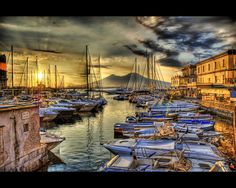 Naples, Italy - an Italian city known for its great pizza and other Italian delicacies.  With a view of Mount Vesuvius too.  Image: Trey Ratcliff