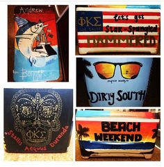 Cooler I made for Phi Kappa Sigma's beach weekend!! Really proud of this one.