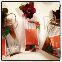 Arbonne facial party, game gift bag ideas.
