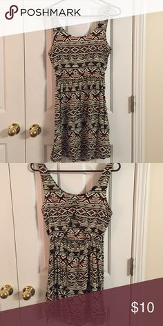 Aztec dress Triangle cutout in back Forever 21 Dresses Mini