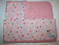"""Carters Just One Year Baby Blanket Pink Flowers I Love You 2 ply cotton 27x30"""" #Carters"""