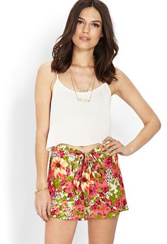 Floral Woven Tulip Shorts | FOREVER21 #F21Contemporary #F21Spring