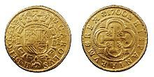 1700 gold coin of Charles II King of Spain