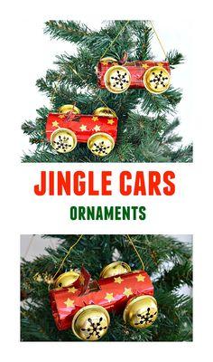 Cute Jingle Cars - Homemade Ornaments kids caan make.