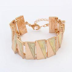 Pulsera de Acrílico, con aleación de zinc, con 5cm extender cadena, chapado en oro real, rosa claro, 15cm, longitud:aproximado 5.91 Inch, Vendido por UD,Abalorios de joyería por mayor de China