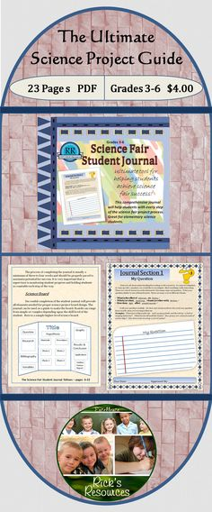One of my favorite and effective products! The ultimate tool for helping students achieve science fair success. This 22-page product includes a short teacher guide on how to implement the student journal in the science curriculum. It includes a 17-page student journal that takes students step-by-step through the science fair project-making process. Once students complete the journal, they will be fully prepared to create an awesome science fair board.