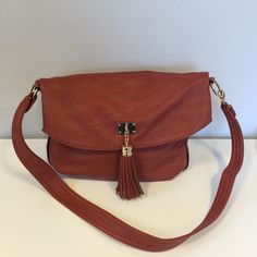 "Aldo brown faux leather handbag Aldo folder over handbag. Cross body or shoulder. 14"" wide ALDO Bags"
