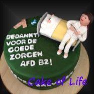 #umcg #B2 #dank #verpleegkundige #ziekenhuis #patiënt #bang #spuit #taart