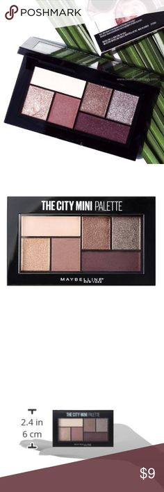 Maybelline City Mini Palette Chill Brunch Neutrals Brand new and sealed. Make a lasting impression with Maybelline's six-shade mini eyeshadow palette, The City Mini Palette Chill Brunch Neutrals.  Benefits: * Perfectly curated shades in a miniature six-color eyeshadow palette * Pure color pigments melt onto the eyelid for dramatic impact in a single sweep * Create your own amped-up look in an instant * Super-saturated color pigments deliver a long-lasting finish Maybelline Makeup Eyeshadow