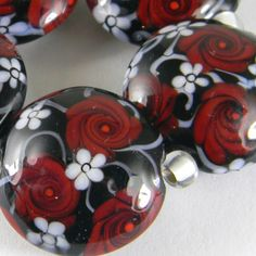 artisan glass lampwork beads handmade by Gina M. DeStevens http://cgi.ebay.com/ws/eBayISAPI.dll?ViewItem&item=350897613963