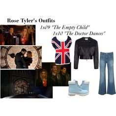 """""""Rose Tyler's Outfits from """"The Empty Child"""" and """"The Doctor Dances"""""""" by erulisse17 on Polyvore"""