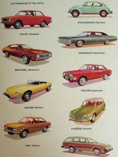 Automobiles des années 1970 Vintage voiture Original par iowajewel