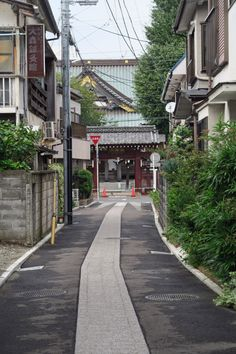 a temple in the town ,Fujisawa Aesthetic Japan, Japanese Aesthetic, City Aesthetic, Japan Landscape, World Street, Japan Street, Japanese Streets, Fanarts Anime, Japanese Architecture