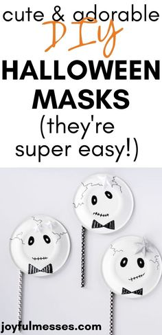 These Halloween masks will be a hit to make with your kids! No matter how you're celebrating Halloween this year, your kids will have fun with these Halloween mask crafts! Here are some fun Halloween masks that you can easily make for the kids. Or make them a little bit bigger and wear them yourself, too! #halloween #halloweencrafts #kidscrafts #diy Halloween This Year, Halloween Home Decor, Halloween Masks, Halloween Treats, Homemade Mask, Homemade Halloween, Toddler Crafts, Crafts For Kids, Preschool Activities
