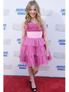 Chloe Moretz's frilly, girly dress is too cute! Wearing Betsey Johnson from Un Deux Trois