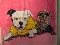 Dog Portrait Custom Tote OOAK