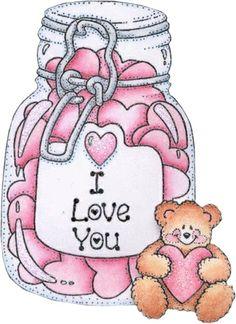 Valentine's hearts in a jar ...Mas ositos - Belen Funes - Picasa Web Albums