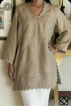 Discover recipes, home ideas, style inspiration and other ideas to try. Kurti Sleeves Design, Kurta Neck Design, Sleeves Designs For Dresses, Dress Neck Designs, Sleeve Designs, Simple Pakistani Dresses, Pakistani Fashion Casual, Pakistani Dress Design, Pakistani Outfits