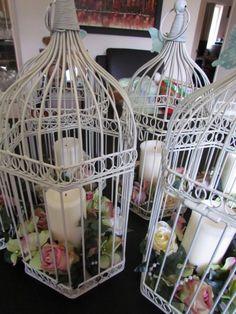 Bird cage, wedding centre pieces, garden party, garden decorations, shabby chic. | eBay