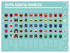 Super Sentai Poster by Hugo Haeffner? It only goes up to Magiranger, so it's missing quite a bit.