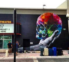 Inspired by Shakespeare. Nuova opera di Kobra - West Palm Beach, Florida