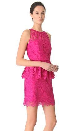 Milly Liza Peplum Lace Dress