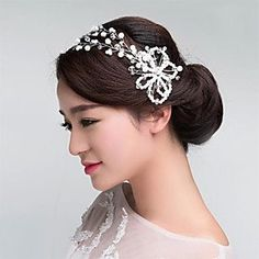 FLOW ZIG Imitation Pearls Crystal WeddingParty HeadpiecesForehead Jewelry * See this great product.