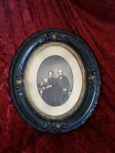 RESERVED FOR DOUG Antique Victorian picture in Old Picture frame, Oval harvest…