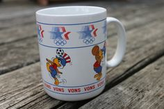 Cool Vintage Vons Olympic Games Sam the Eagle Coffee Mug by Papel - 1984 - Volleyball Cricket Soccer Basketball - Go Team USA!