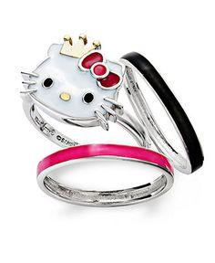 Hello Kitty Diamonique Sterling Klassic Kitty Ring My wedding